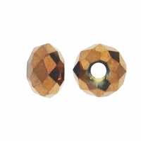 Majestic Crystal® Metallic Bronze 3x4mm 32-Facet Crystal Rondelle Beads (50PK)