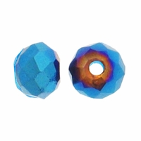 Majestic Crystal® Metallic Blue 3x4mm 32-Facet Crystal Rondelle Beads (50PK)