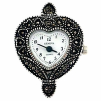Marcasite Heart Watch Face