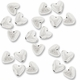Antiqued Silver 5mm Puffed Heart Beads (20PK)