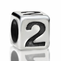 4.8mm Sterling Silver Rounded Cube Number 2