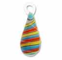 Murano lampwork Glass 40mm Teardrop Pendant (1PC)