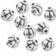 Antiqued Silver 6mm Lantern Beads (10PK)