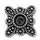 Antiqued Silver  2 Hole Floral Spacer Bead (5PK)