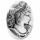 Antiqued Silver 17mm Cameo Bead (1PC)