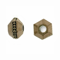 Brass Oxide 3mm Faceted Spacer Bead (10PK)