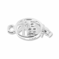 Silver Plated Orient 11mm One-Strand Box Clasp (1PC)