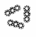 3 Hole 4mm Sterling Silver Daisy Spacer Bead (1PC)