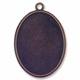 Antiqued Copper Plated 48x33mm Oval Pendant Cabochon Settings (1PC)