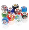 MIOVI™ Millefiori Large Hole Glass Beads