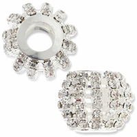 MIOVI™ Large Hole Rhinestone 18mm Drum Bead (1PC)