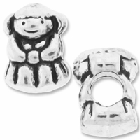 MIOVI™ Silver Plated Large Hole 13mm Cute Girl Bead (1PC)