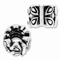 MIOVI™ Silver Plated Large Hole 9mm Butterfly Beads (1PC)