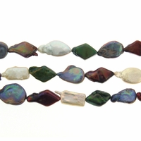 Multi-Color /Shape 13-20mm Freshwater Coin Pearl Bead Strand