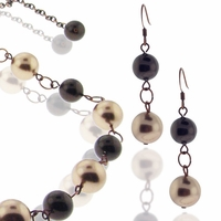 Mocha Latte Necklace and Earring Design Kit