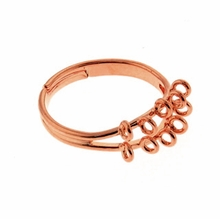Copper Plated 17mm Adjustable Ring (1PC)