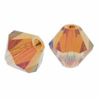 Crystal Copper 5328 5mm Swarovski Crystal XILION Bicones Beads (10PK)