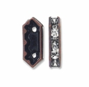 Antiqued Copper  15x6.5x4mm Rhinestone Bridge Spacer Bead, Crystal, 2 Strand (5PK)