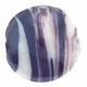 20mm White and Black Swirl Disc Lampwork Glass Beads (5PK)