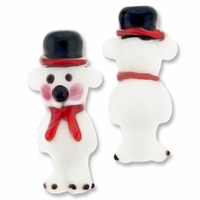 Polar Bear 30mm Lampwork Glass Beads (2PK)