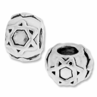MIOVI™ Sterling Silver Star of David Large Hole Bead (1PC)
