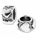 MIOVI™ Sterling Silver Hearts Rondelle Large Hole Bead (1PC)