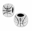 MIOVI™  Sterling Silver Basketball Large Hole Bead (1PC)