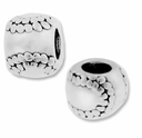 MIOVI™  Sterling Silver Baseball Large Hole Bead (1PC)