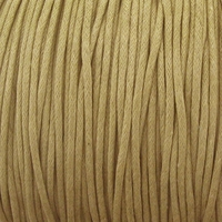 Taupe 1.5mm Waxed Cotton Craft Cord (1YD)
