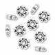 Antiqued Silver 4mm Daisy Spacer Beads (50PK)