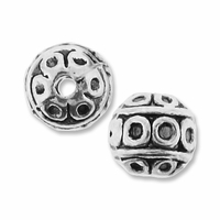Antiqued Silver 7mm Circles Round Beads (10PK)