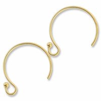 Gold Filled Circle Ball End Ear Wire (1PR)