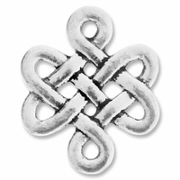 Antiqued Silver Chinese Knot Link Connector (10PK)