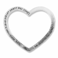 Antiqued Silver 50mm Open Heart Links (2PK)