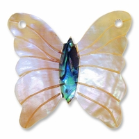 45mm Mother of Pearl Butterfly Pendant (1pc)