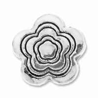 Antiqued Silver 12mm Groovy Flower Beads (10PK)