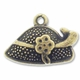 Antiqued Brass Ladies Hat Charm (10PK)