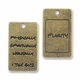 Antiqued Brass PURITY Charm (5PK)