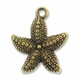 Antiqued Brass Starfish Charm (10PK)