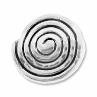 Antiqued Silver 11mm Spiral Round Beads (10PK)