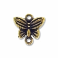 Antiqued Brass Butterfly Link (10PK)