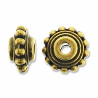 Antiqued Brass Bali Style Rondelle Bead (10PK)