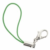 Green Cell Phone Strap w/ 12mm Lobster Clasp (5 PK)