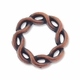 Antiqued Copper Weaved Circle Bead Frame (1PC)