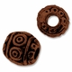 Antiqued Copper 6mm Swirl Barrel Beads (5PK)