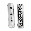 Antiqued Silver 17x4mm 3 Hole Fancy Bar Spacer Beads (10PK)