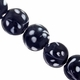 16mm Black and White Swirl Design Disc Lampwork Beads (5PK)