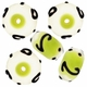 13mm Peridot w/Black Art Deco Rondel Lampwork Beads (5PK)