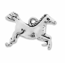 Antiqued Silver 12x19mm Horse Charms (10PK)