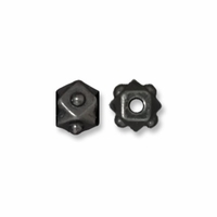 Black Finish 4mm Faceted Cube Bead (5PK)